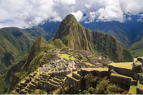 Paysage du Pérou, machu picchu