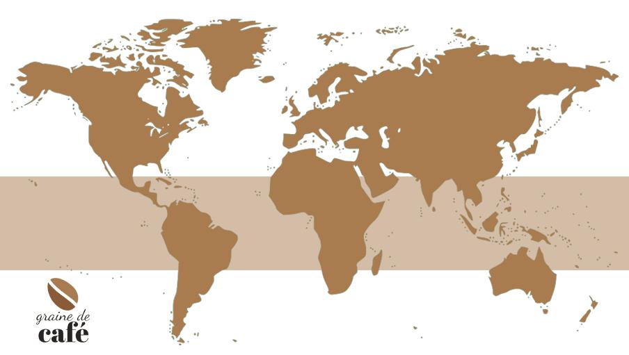 Zone de culture des meilleurs cafés du monde