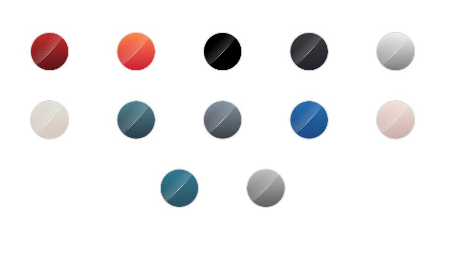 Coloris de la gamme Le Creuset