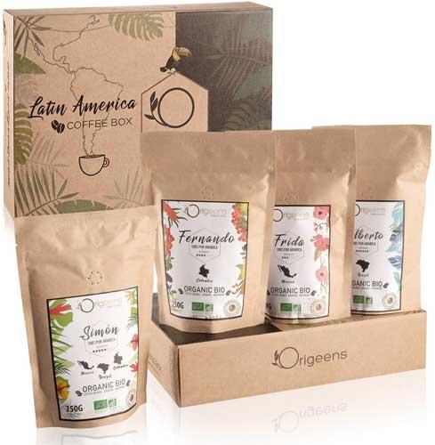 Coffret dégustation Origeens café en grains