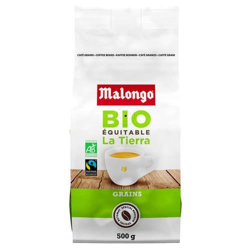 Café Malongo en grains 500g bio équitable